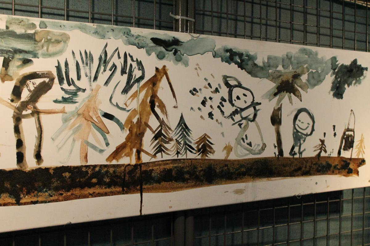 Grande peinture panoramique enfantine
